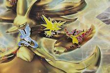Pokemon Legendary Bird Collector Pin Set of 3 - Articuno Zapdos Moltres NEW
