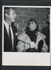 NATALIE WOOD + STEVE McQUEEN CANDID - AT THE 1963 PREMIERE OF PROPER STRANGER