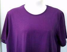 MIB 3X Purple Shirt 100% Cotton USA Short Sleeve Scoop Neckline Pullover Head