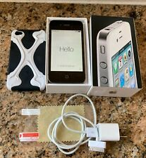Apple iPhone 4 (16GB - Black/Silver - Unlocked) - Model A1387 - USED