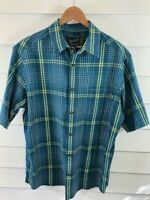 Woolrich Woolen Mills Original Outdoor Comany Plaid Short Sleeve Mens L Large