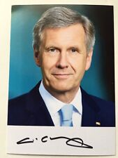 Christian Wulff PRESIDENT OF GERMANY autograph, signed card