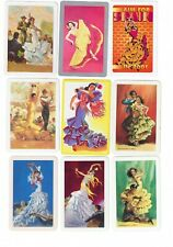 VINTAGE SPANISH DANCERS #1  (9)  swap/playing cards