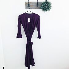 NWT Isabella Oliver Maternity Purple Wrap Dress 1 / 4