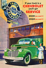 1946 Chevrolet Truck Service Advertising Poster