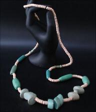 Joya Collar Cadena de Madera Marrón Natural Verde 88cm #130