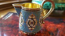 Antique Russian 84 silver cloisonne enamel creamer Gustav Klingert Moscow