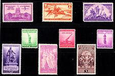 US, 1940  full Commemorative year set, 9 stamps, MNH OG