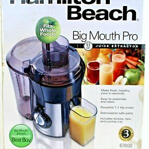 Hamilton Beach Model #67608  Big Mouth Pro Juice Extractor Fits Whole Foods