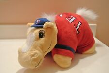 """MLB TEXAS RANGERS BASEBALL PLUSH PILLOW PET 24"""" X 20"""" WITH HORSE HEAD AND TAIL"""
