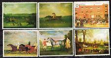UK Art Famous Scotish Paintings Derby Horses set 1970 MNG