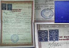 Schneider-Lehrbrief Gesellenbrief 1928 Urkunde Mies-Tuschkau-Nürschan Dokument