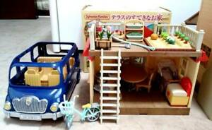 Sylvanian Families Terrace And Car Set  Epoch Japan Calico Critters