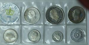 1965 Kingdom of Greece 7 Coin Proof Set