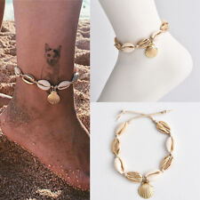 Bracelet Chain Boho Surf Foot Jewellery Natural Sea Shell Bead Anklet Cord Charm