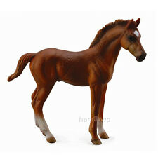 CollectA 88671 Standing Chestnut Thoroughbred Foal Horse Model Toy - NIP