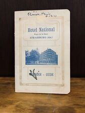 Hotel National Straussburg souvenir guide, map, 1910, Germany, vintage, travel