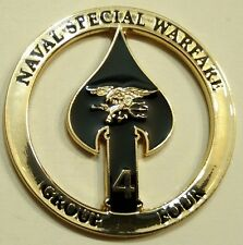 Naval Special Warfare Group Four SBT-12 SBT-20 SBT-22 Navy Challenge Coin 4 SEAL