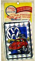 vtg prismatic sticker novelty VW Volkswagen bug hot rod drag race car