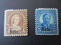 1929 -  Kansas-Nebraska Stamp Issue - Scott Catalog #673-74 MNH