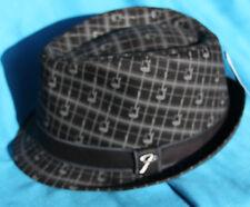 Fender Axe Plaid Fedora Hat, Small/Medium, MPN 9106013306