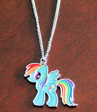 NEW Official My Little Pony Rainbow Dash Silver Tone Necklace Pendant Brony Gift