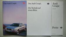 Prospekt Audi Coupe mit quattro + S2, 7.1991, 44 S. + Technik + Preise 8.1991