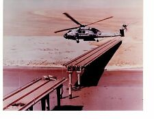 Sikorsky HH60H Seahawk HS8 Navy Helicopter Photo 8x10 Destroyed Bridge Kuwait