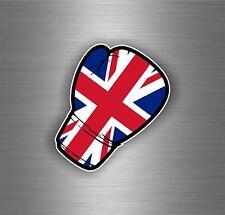 Autocollant sticker voiture moto gant de boxe drapeau uk anglais royaume uni