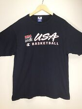 Vintage 1992 Champion USA Men's XL Basketball T Shirt S/S Blue