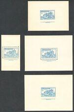 ESPAÑA - AÑO 1937 - 4 HOJITAS BLOQUE PRO SEGOVIA - GUERRA CIVIL - LOCALES - MNH