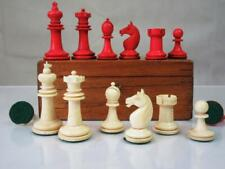 ANTIQUE  GERMAN CHESS SET  BY K P UHLIG  K 71 mm  AND NICE BOX NO  BOARD