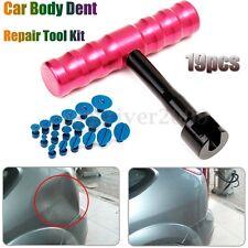 T-Bar Car Body Panel Paintless Dent Removal Repair Lifter Tool + 18 Puller Tabs