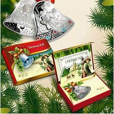 2013 Niue 2 Dollars, Christmas Bell with LED, Swarowski, silver coin, New Year
