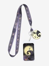 Disney Nightmare Before Christmas Jack Sally Graveyard Lanyard ID Pin Holder