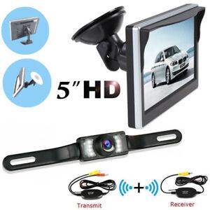 "5"" WiFi 170° IR Wireless Reverse Backup Parking Camera Monitor Car Rear View Kit"