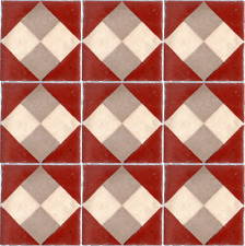 9 FLOOR ANTIQUE ORIGINAL TILES 1 SQ. FOOT ROMEU ESCOFET SPAIN Stoneware