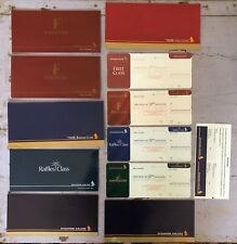 Singapore Airlines Ticket collection