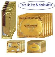 24K Gold Bio Collagen Face Facial Neck Lip Mask Wrinkle Tired Crow Eye Treatment