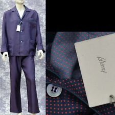 BRIONI New sz M Authentic Designer Mens Luxury 100% Silk PJs Pajamas Set w box