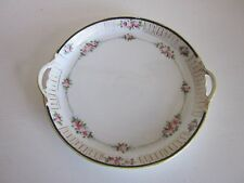 "Nippon Plate  w/handles hand painted 7 3/4"" x 7 1/4"""