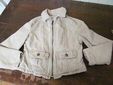 Gap Kids 1969 Girls Khaki Safari Zipper Cargo Snap Pocket Jacket S Small 6-7