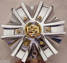 ARELLI  REIGN CADILLAC Center Hub Cap Chrome With Gold  # 136-100C  /  135-100