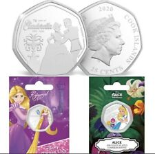More details for cinderella, rapunzel,alice in wonderland coin bundle disney princess coin bundle
