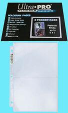 50 ULTRA PRO PLATINUM 2-POCKET Pages Sheets Protector Photo Print Postcard 5x7