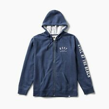 REEF Men's CLUB Zip Hoodie - Navy Heather - Large - NWT