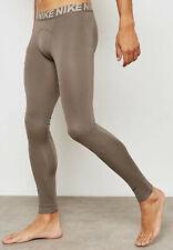Nike Mens Utility Full Length Training Tights - AA1585 202 - Sz M - Sepia/Stone