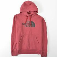 The North Face Red Hoodie Big Logo Spellout Sweatshirt Hooded Mens Small S