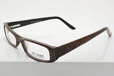 Hi-Max H345 C. 34 Maroon Orange Plastic Full Rim Eyeglasses Size 49-15-137 mm