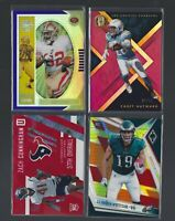(4) card Panini Football Rookie Card NUMBERED,PARALLEL lot